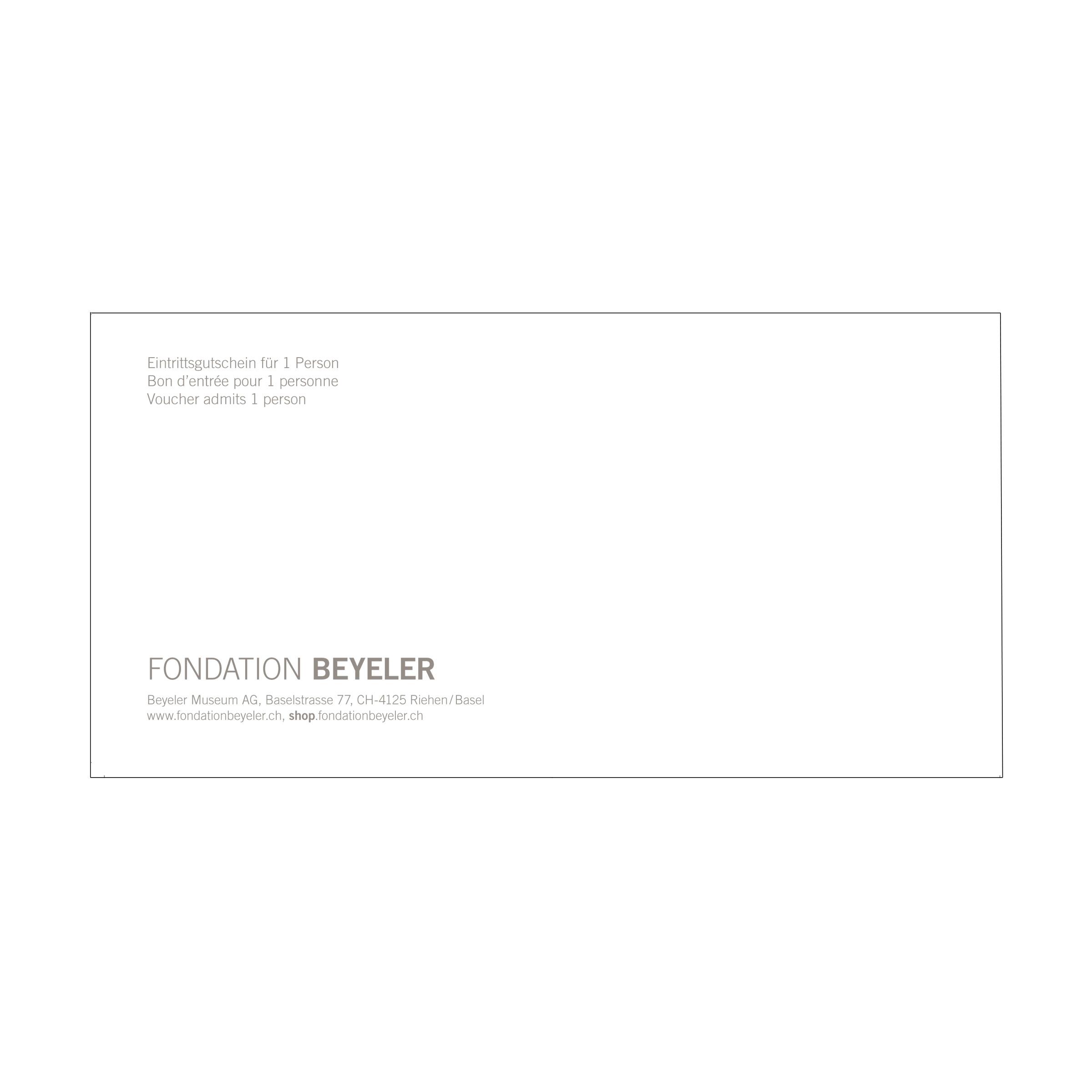 Eintrittsgutschein | Fondation Beyeler Shop