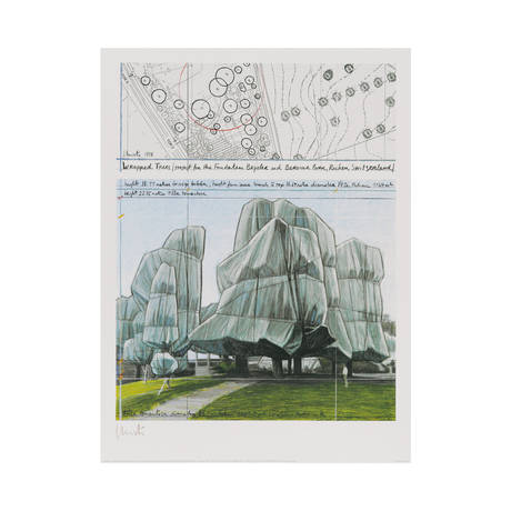 Christo and Jeanne-Claude <br>Wrapped Trees III, 1998