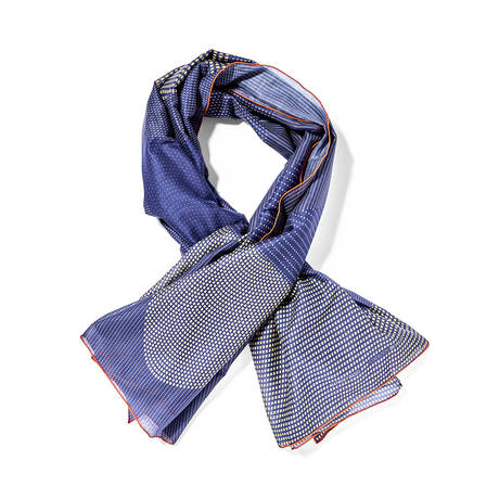 Scarf cotton blue