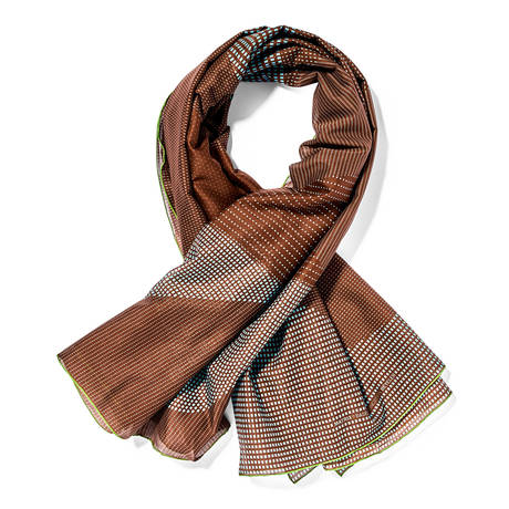 Scarf cotton brown