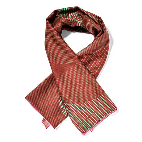 Scarf cotton dark red